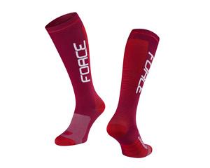 Force ponožky COMPRESS, bordó-červené