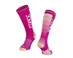 Force ponožky COMPRESS, fialovo-meruňkové