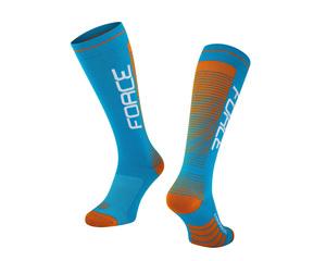 Force ponožky COMPRESS, modro-oranžové