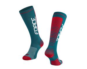 Force ponožky COMPRESS, petrolejovo-červené