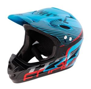 Force přilba TIGER downhill, modro-černo-červená