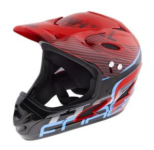 Force přilba TIGER downhill, červeno-černo-modrá