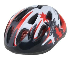 Force dětská helma LARK černo-červeno-bílá