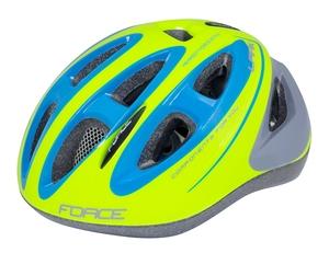 Force dětská helma LARK fluo-modrá