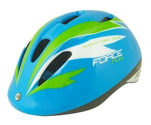 Force dětská helma FUN STRIPES, modro-zeleno-bílá