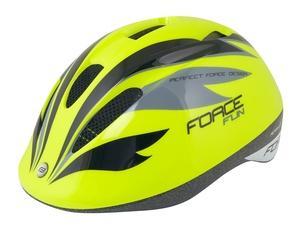 Force dětská helma FUN STRIPES, fluo-černo-šedá