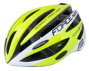 Force helma ROAD JUNIOR, fluo-bílá