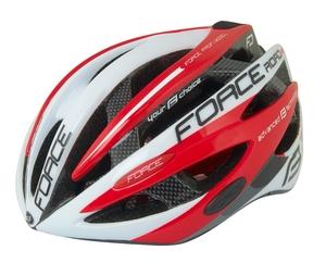Force helma ROAD JUNIOR PRO, bílo-červená