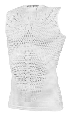 Force triko funkční TROPIC bez rukávů, bílé
