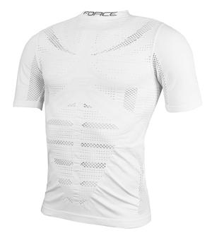 Force triko funkční WIND krátký rukáv, bílé
