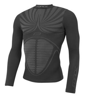 Force triko funkční THUNDER dlouhý rukáv, černé