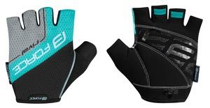 Force rukavice RIVAL černo-tyrkysové