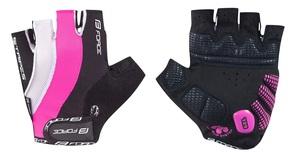 Force rukavice STRIPES gel dámské růžové