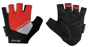 Force rukavice DARTS gel bez zapínání, červeno-šedé