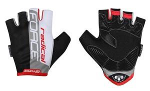 Force rukavice RADICAL černo-bílo-červené