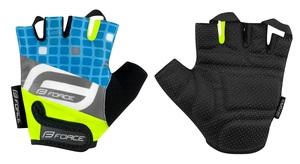 Force rukavice SQUARE dětské, fluo-modré