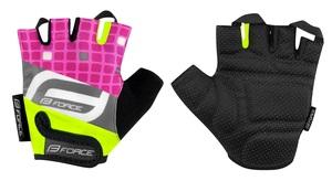 Force rukavice SQUARE dětské, fluo-růžové