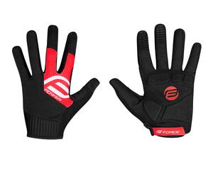 Force rukavice MTB POWER, černo-červené