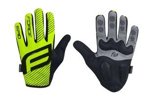 Force rukavice MTB SPID, letní bez zapínání, fluo