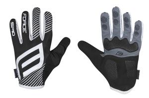 Force rukavice MTB SPID, letní bez zapínání, černé
