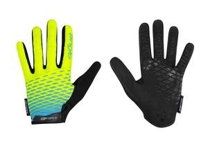 Force rukavice KID MTB ANGLE letní, fluo-modré