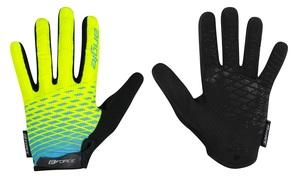Force rukavice MTB ANGLE letní, fluo-modré