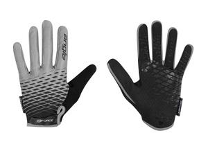 Force rukavice KID MTB ANGLE letní, šedo-černé