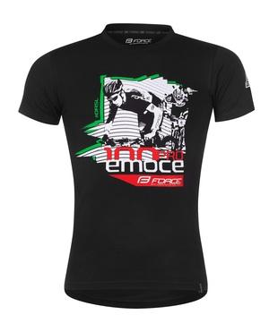 Force triko DRÁSAL krátký rukáv, černé