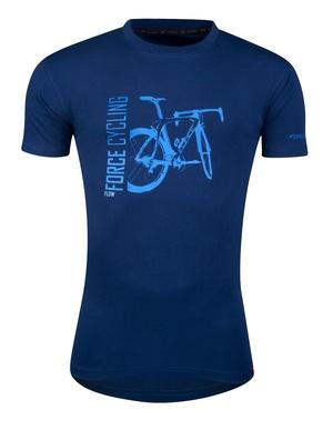 Force triko FLOW krátký rukáv, modré