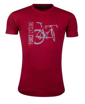 Force triko FLOW krátký rukáv, červené