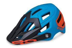 R2 helma TRAIL modrá, oranžová matná