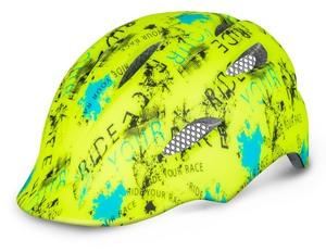 R2 helma DUCKY neon žlutá, modrý, černá
