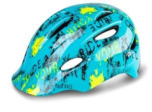 R2 helma DUCKY modrá, neon žlutá, černá