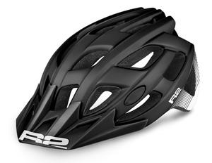 R2 helma ROCK černá, bílá matná