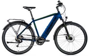 Leader Fox trekingové elektrokolo DENVER tmavě modré/zelené