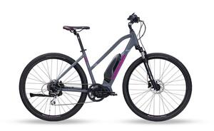 Head crossové elektrokolo E I-Peak I women grey matt/purple