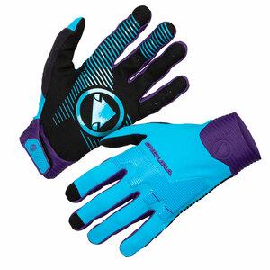 Endura rukavice MT500 D3O modré eletric