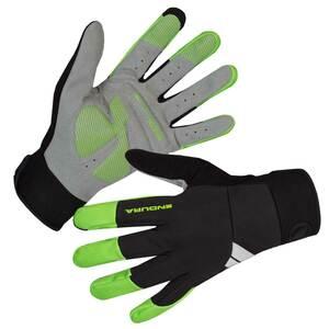 Endura větru odolné rukavice Windchill svítivě zelené