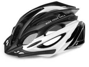 R2 helma PRO-TEC mat černá, bílá