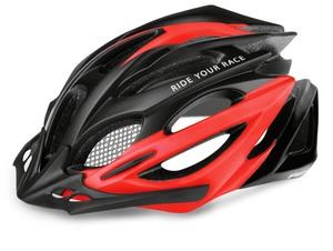 R2 helma PRO-TEC černá, červená/matná