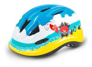 R2 dětská helma LUCKY modrá, žlutá