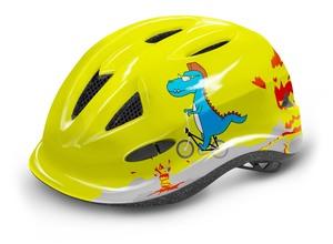 R2 dětská helma LUCKY neon žlutá, šedá, modrá