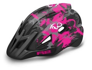 R2 helma WHEELIE černá, růžová, bílá