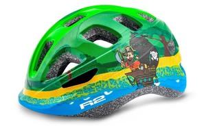 R2 helma BUNNY lesklá zelená, modrá