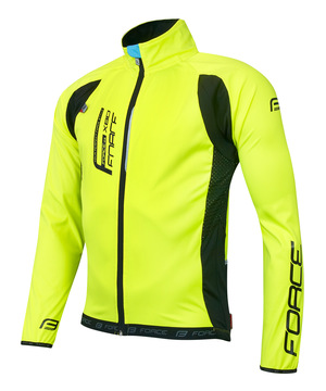 Force bunda X80 tenký softshell, UNI, fluo