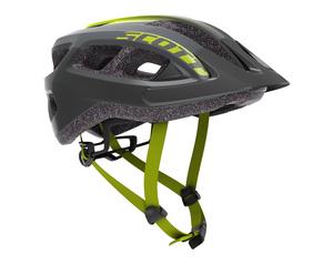 Scott cyklistická helma SUPRA black/radium yellow fade
