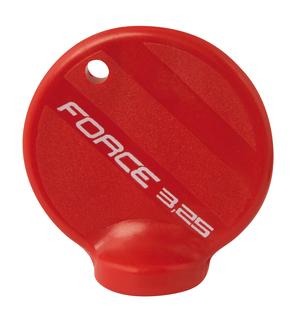 Force centrklíč plastový červený na nipl 3,25 mm