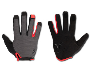 Cube rukavice X Natural Fit long finger, grey´n´red