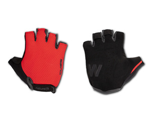 Cube rukavice WS X Natural Fit short finger, red