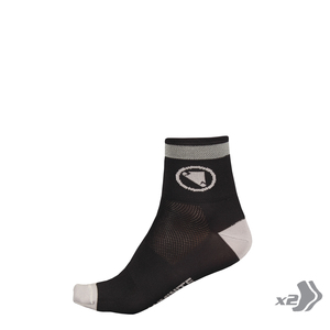 Wms Luminite Sock (Twin Pack): Black - One size
